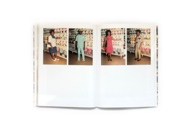 Title: Supermarket Photographer(s): Jacob Nzudie Concept: Jean-Luc Cramtte Designer(s): Studio Rubic, Geneva Writer(s): Sam Stourdzé and Suzanne Kala-Lobe Publisher: Le Bec en l'Air Éditions, Lausanne 2012 Pages: 144 Language: French and English ISBN: 978-2-916073-81-1 Dimensions: 16 x 22.5 cm Edition: – Country: Cameroon
