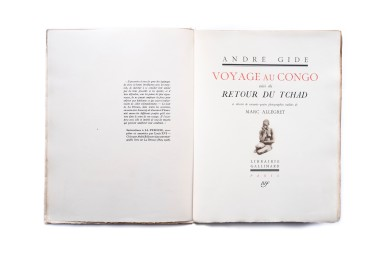 Title: Voyage au Congo suivi de Retour du Tchad Photographer(s): Marc Allégret Designer(s): – Writer(s): André Gide Publisher: Nrf, Paris 1929 Pages: 128 Language: French ISBN: - Dimensions: 25,5 x 33,5 cm Edition: – Country: French Equatorial Africa (Republic of the Congo, Central African Republic, Chad and  Cameroon)