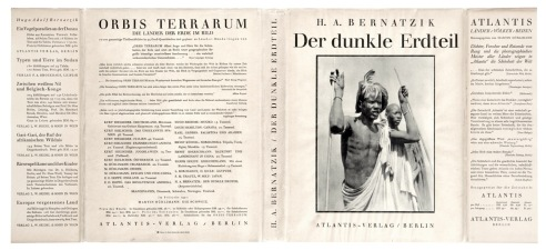 H. A. Bernatzik - Der dunkle Erdteil, Atlantis, 1930, 1st dust jacket