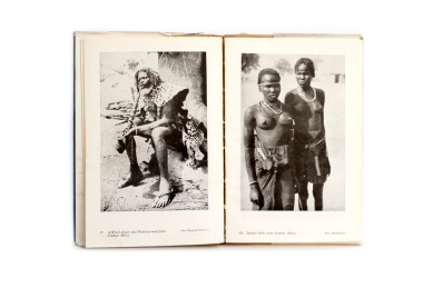 Title: Negro Types Photographer(s): H.A. Bernatzik, Georges Specht and Leon Poirier (photographs were taken from various other books such as La croisière noire Designer(s): – Writer(s): unknown (but a different introduction than the Swiss edition) Publisher: George Routledge & Sons, London n.d. (Published in the series Seen by the Camera, first published in Switzerland as Negertypen des schwarzen Erdteil) Pages: 16 textpages, 65 photographic plates Language: English ISBN: – Dimensions: 13 x 19.5 cm Edition: – Country: Various countries