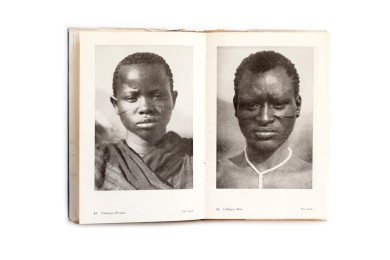 Title: Negro Types Photographer(s):H.A. Bernatzik,Georges Specht andLeon Poirier (photographs were taken from various other books such asLa croisière noire Designer(s): – Writer(s):unknown (but a different introduction than the Swiss edition) Publisher: George Routledge & Sons, London n.d. (Published in the series Seen by the Camera, first published in Switzerland as Negertypen des schwarzen Erdteil) Pages: 16 textpages, 65 photographic plates Language:English ISBN: – Dimensions:13 x 19.5 cm Edition: – Country: Various countries