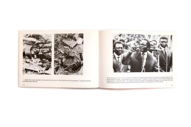Title: Unity in Action Photographer(s): various photographers Designer(s): unknown Writer(s): Oliver Tambo (introduction) Publisher: African National Congress, London 1982 Pages: 156 Language: English ISBN: 0-903082039 Dimensions: 29.5 x 20.5 cm Edition: – Country: South Africa