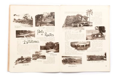 Title: L'État indépendant du Congo. - Documents sur le pays et ses habitants. Ethnographie et antropologie. Serie IV. - Fascicule IV. Voies et moyens de communication Photographer(s):Various photographers. Taken from the collection of the Congo Free State Designer(s): Jean Malveaux Writer(s): – Publisher: Published as an attachment to the 'Annales du Musée du Congo, Tervuren/Brussels February 25th 1903 Pages:30 (99-128) Language:French ISBN: – Dimensions:27 x 37 cm Edition: Loose pages in a document folder Country:Congo Free State