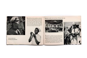 Title: Visages d'Afrique Photographer(s): Carl Damas, Manciet, Galley, Dehuz, Martin, Dominique Darbois a.o. Designer(s): – Writer(s): – Publisher: L'Air Liquide (Compagny), Paris 1959 Pages: Calendar with approx. 52 photographic plates Language: French, English, German and Spanish ISBN: – Dimensions: 17 x 23 cm Edition: Country: Various countries