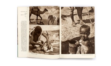 Title:Afrika snů a skutečnosti (Africa of dreams and reality) Photographer(s): Jiří Hanzelka and Miroslav Zikmund Designer(s): Václav Rein Writer(s):Jiří Hanzelka and Miroslav Zikmund Publisher:Naše vojsko, Prague 1957 Pages:296 text pages and plates separated. Language: Czech ISBN: – Dimensions:17 x 23.5 cm Edition: This edition is from 1957, although the first edition is from1952/54. The trilogy was also published in German under the title Afrika, Traum und Wirklichkeit. Country:Various countries