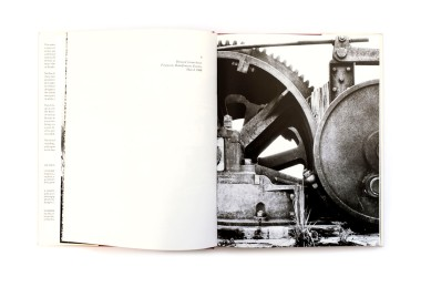 Title: On the mines Photographer(s): David Goldblatt Designer(s): David Goldblatt Writer(s): David Goldblatt and Nadine Gordimer Publisher: C. Struik (PTY) Ltd, Cape Town, 1973 Pages: 136 Language: English ISBN: 0 86977 029 2 Dimensions: 25 x 33 cm Edition: unknown, the book was published in grey and (more scarce) cloth. Steidl published a new version of the book. Country: South Africa