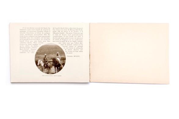 Title:Publication du centenaire de l'Algérie; Les Kabylies et l'Aurés Photographer(s):collections du Service Photographique du Gouvernement Général de l'Algerie, du Touring Club de France, de la Compagnie Aérienne Française, de MM. le General de Bonneval, Bougault, Prouho, Caujolle, E. Monod, Jouve et Georges Rozet Designer(s):– Writer(s): Georges Rozet Publisher: Le Commissariat Général du Centenaire, collection deHorizons de France, Paris 1929) Pages: 64 Language:French ISBN: Dimensions:20×15 cm Edition/Print run: Country:Algeria
