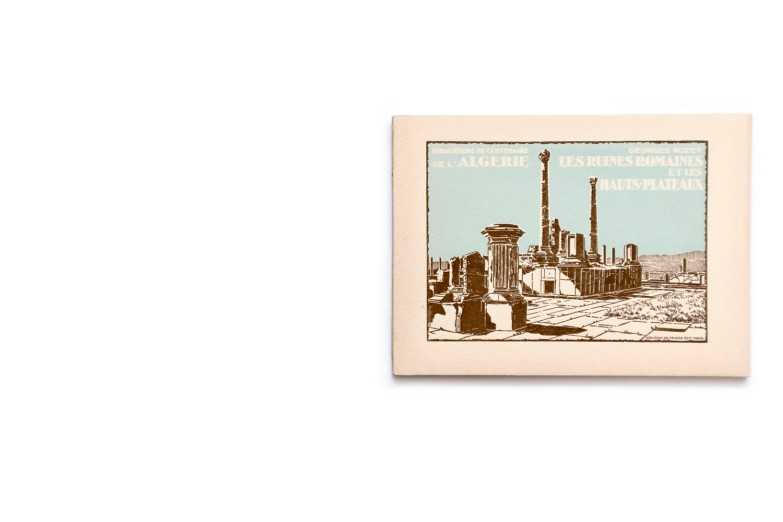 Title:Publication du centenaire de l'Algérie; Les ruines Romaines et les hauts plateaux Photographer(s):collections du Service Photographique du Gouvernement Général de l'Algerie, du Touring Club de France, de la Compagnie Aérienne Française, de MM. le General de Bonneval, Bougault, Prouho, Caujolle, E. Monod, Jouve et Georges Rozet Designer(s):– Writer(s): Georges Rozet Publisher: Le Commissariat Général du Centenaire, collection deHorizons de France, Paris 1929) Pages: 64 Language:French ISBN: Dimensions:20×15 cm Edition/Print run: Country:Algeria