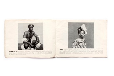 Title: African Tribes employed on the Witwatersrand Gold Mines Photographer(s): L. G. Hallett and M.A.F. Helm Designer(s): – Writer(s): C.L. Real (?), chairman of The Prevention of Accidents Committee. Publisher: Witwatersrand Gold Mining Industry. Prevention of Accidents Committee, Johannesburg 1944 Pages: 40 Language:English ISBN: – Dimensions:25 x 18cm Edition: Second edition (November 1944). A limited number of copies was printed in a first edition published in March 1944. Rerpinted on courtesy of the Prevention of Accidents Committee of the Witwatersrand Gold Mining Industry. Profits of the sale of this brochure were to be donated to war funds. Country:South Africa
