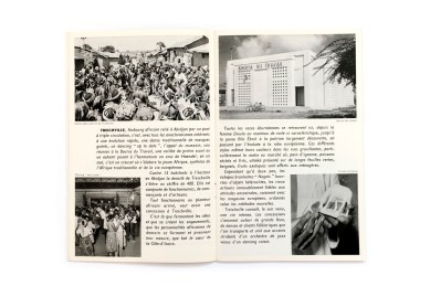 Title: Abidjan et ses environs Photographer(s): Various photographers (B. Holas - Photo-Cine Abidjan). Designer(s): - Writer(s): - Publisher: Service de l'Information, Abidjan 1955 Pages: 48 with some foldouts Language: French ISBN: – Dimensions: 13.5 x 21cm Edition: – Country: Ivory Coast