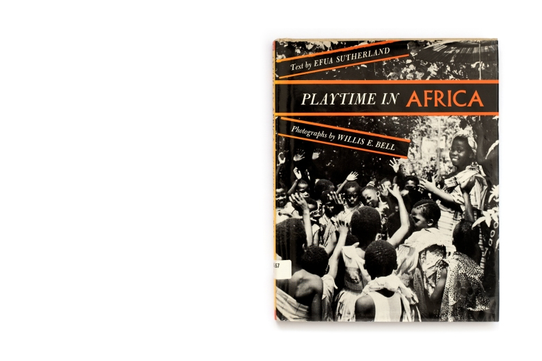 Title: Playtime in Africa Photographer(s):Willis E. Bell Designer(s): the authors Writer(s): Efua Sutherland Publisher: Atheneum, New York 1962 Pages: 64 Language:English ISBN: – Dimensions:18 x 23.5 cm Edition: – Country:Ghana The American edition was first published in January 1962. This copy is the seventh printing from July 1969