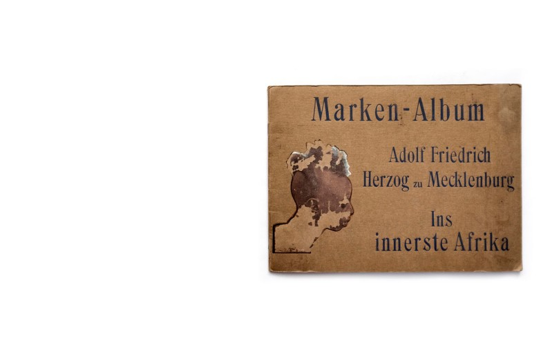 Title: In innerste Afrika - Marken-Album Photographer(s): various, most probably by some of the members of the expedition Designer(s): - Writer(s): Adolf Friedrich, Duke of Mecklenburg Publisher: Verlag Lindner, Leipzig before 1909/14 Pages: 20 Language: German ISBN: – Dimensions: 32.5 x 24.5 cm Edition: Country: Belgian Congo, Uganda, Rwanda, Burundi and Tanzania