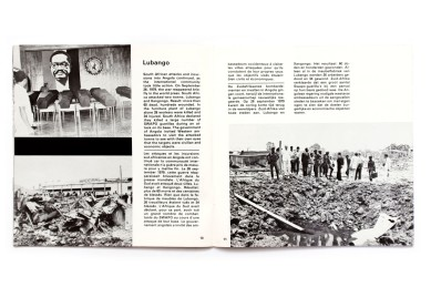 Title: Agression by the apartheid regime against Angola Photographer(s): Frits Eisenloeffe;, Joost Guntenaar, Achille Lollo, Kok Nam and the photographers of DIP-Angola Designer(s): -  Writer(s): - Publisher: Komitee Zuidelijk Afrika, Amsterdam 1981 Pages: 35 Language: English, French and Dutch ISBN: 9070331039 Dimensions: 19.5 x 19.5 cm Edition: Country: Angola