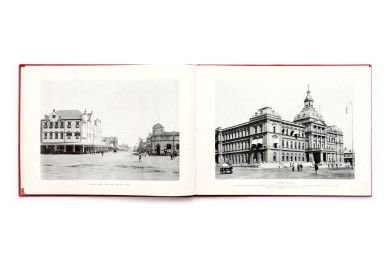 Title: In and around Pretoria and the Mines  Photographer(s): - Designer(s): unknown Writer(s): unknown Publisher: Sallo Epstein & Co., Johannesburg n.d. Pages: 32 (49 artistic photographic views) Language: English ISBN: – Dimensions: 29 x 21.5 cm Edition: Country: South Africa
