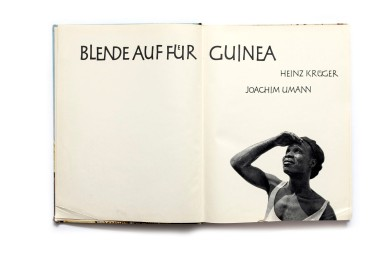 Title: Blende auf fur Guinea Photographer(s): Heinz Krüger Writer(s): Joachim Umann Designer(s): - Publisher: Veb F.A. Brockhaus Verlag, Leipzig 1961 Pages: 160, 40 pages text and 120 illustrated pages Language: German ISBN: - Dimensions: 23.5 x 30.5 cm Edition:  Country: Guinea