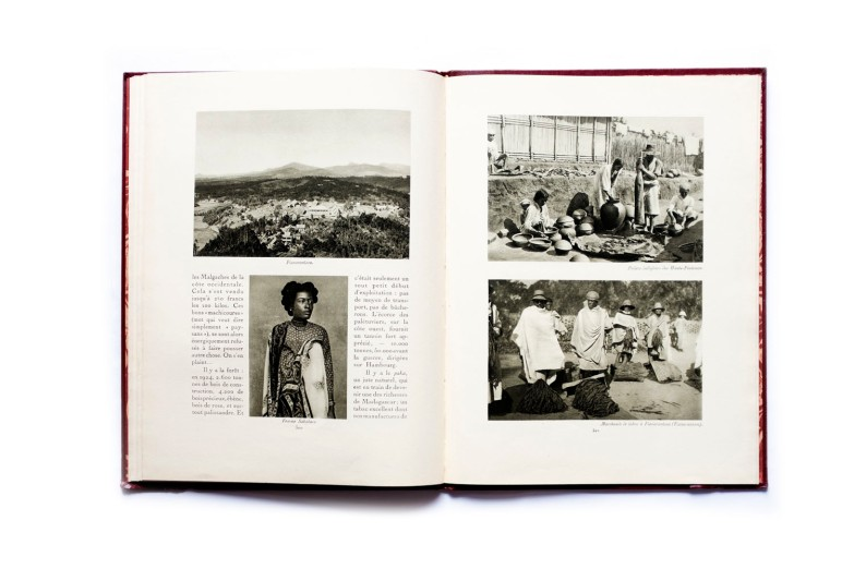 Title: La France Lointaine. Afrique Occidentale Française Photographer(s): Unknown Designer(s): Writer(s): Pierre Mille Publisher: Horizons de France. Paris 1930 Pages: 56, stated 261-316 Language: French ISBN:  Edition: This is volume 19 in a series of books 'Le Visage de la France'. about the country and its colonies. Some of those volumes (maybe all of them) were published earlier in a magazine format. Dimensions: 24.5 x 33 cm Country: Madagascar