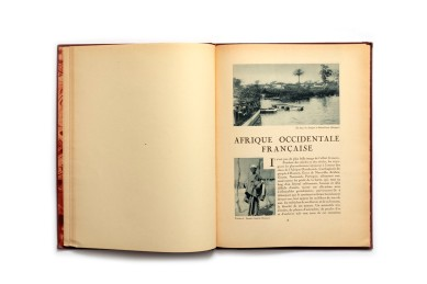 Title: La France Lointaine. Afrique Occidentale Française Photographer(s):Unknown Designer(s): Writer(s):Général Gouraud (préface) and Georges Hardy Publisher:Horizons de France. Paris 1930 Pages: 64 Language:French ISBN: Edition: This isvolume 15 in a series of books 'Le Visage de la France'. about the country and its colonies. Some of those volumes (maybe all of them) were published earlier in a magazine format. Dimensions: 24.5 x 33 cm Country: L'Afrique-Occidentale française (A.-O.F.) -Mauritanie,Sénégal, Mali,Guinée,Côte d'Ivoire, Niger, Burkina Faso, TogoandBénin.