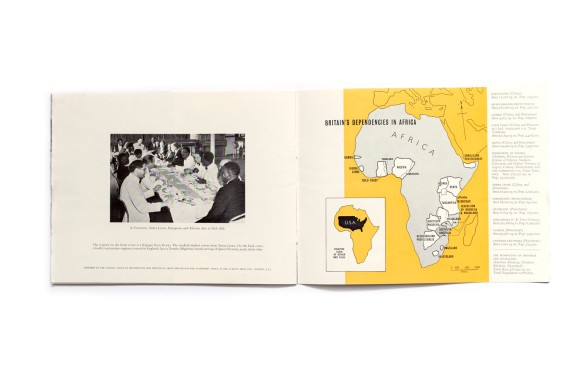 Title: Britain's purpose in Africa Photographer(s): unknown Designer(s):  Writer(s): Kenneth Bradley Publisher: The Central Office of Information, London 1955 Pages: 32 Language: English ISBN:  Edition: Dimensions: 22.5 x 17.5 cm Country: Various Countries