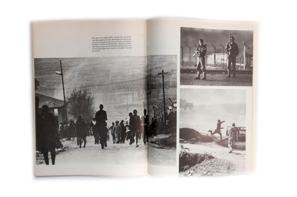 Title: Magubanes Südafrika Photographer(s): Peter Magubane Designer(s): - Writer(s): Peter Magubane Publisher: Verlag Volk und Welt Berlin, Berlin (GDR) 1983 Pages: 116 Language: German ISBN: Edition: Originally published as Magubans South Africa by Knopf, New York 1978. Dimensions: 22.5 x 30.5 cm Country: South Africa