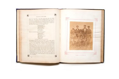 Title: The Progress of his Royal Highness Prince Alfred Ernest Albert through the Cape Colony, British Kaffraria, the Orange Free State, and Port Natal, in the year 1860 Photographer(s): Joseph Kirkman, York and possibly Frederick Young Designer(s): unknown Writer(s): unknown Publisher: Saul Solomon & Co., Cape Town, 1861 Pages: 180 pp Language: English ISBN: – Dimensions: 29x23 cm Edition: – Country: Tunisia From the collection of Flip Bool