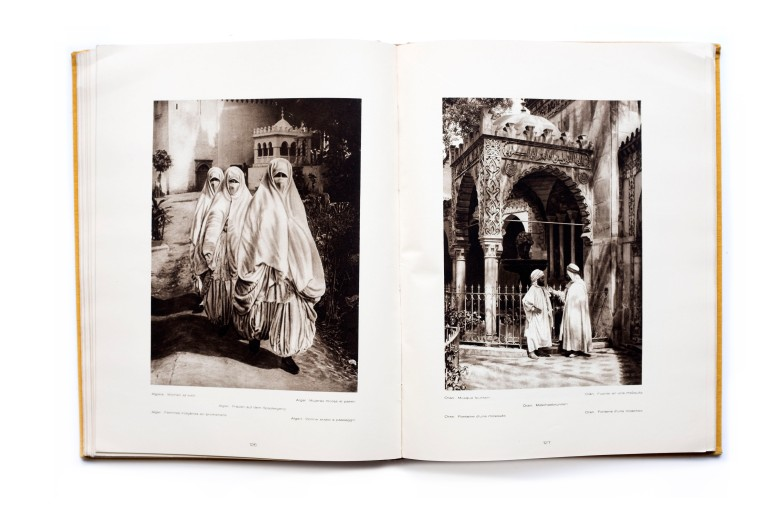Title: L'Afrique du Nord Photographer(s): Lehnert & Landrock, Photo-Flandrin, Max Entwich Designer(s): unknown Writer(s): Claude Farrere Publisher: Orbis Terrarum / A. Calvas, Paris 1924 Pages: 240 pp Language: French ISBN: - Dimensions: 24cm x 31,5cm Edition: – Country: Morocco, Algeria and Tunisia