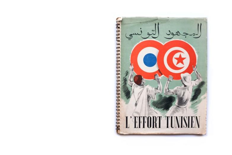 Title: L'effort Tunisien Photographer(s): Various photographers Designer(s):unknown Writer(s):unknown Publisher: Service de l'information et de la presse, Tunis 1945 Pages:68 pp Language:English ISBN: - Dimensions:24cm x 30cm Edition: – Country:Tunisia