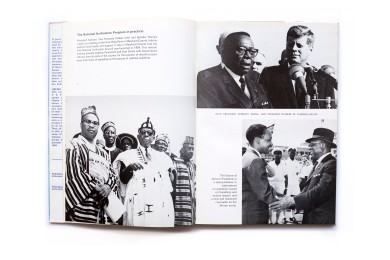 Title: Liberia Photographer(s): Unknown Designer(s): Unknown Writer(s): E. Reginald Townsend Publisher: Department of Information and Cultural Affairs of Liberia, Monrovia 1970 Pages: 96 pp Language: English ISBN: - Dimensions: 21.5cm x 35cm Edition: – Country: Liberia