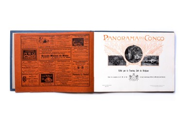 Title: Panorama du Congo Photographer(s): various Designer(s): unknown Writer(s): Cassart, Goffin, Dubreucq, Chabry, Dryepondt, Hennebert, De Rennette de Villers-Perwin, Roelens and Wangermee. Publisher: Touring Club de Belgique, Brussels 1912 Pages: approx 128pp Language: French ISBN: – Dimensions: 43x32 cm Edition: The book contains 8 volumes Country: Belgian Congo