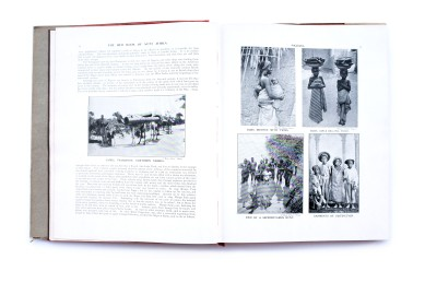 Title:The red book of West Africa: historical and descriptive, commercial and industrial facts, figures, and resources Photographer(s): George S.A. Da Costa (1853-1929), Frederick Richard Christian Lutterodt (1871-1937), Neils Walwin Holm (1865 – about 1927), Justus A.C. Holm (1888), Alphonso Lisk-Carew and Arthur Lisk-Carew, the Nicol Brothers and W.J. Sawyer (?) Designer(s): unknown Writer(s): Allister Macmillan Publisher:W.H. & L. Collingridge, London 1920 Pages:314pp Language:English ISBN: – Dimensions:22×28 cm Edition: First edition, a second edition was published in 1968 Country:Nigeria, Gambia, Sierra Leone, Gold Coast (Ghana)