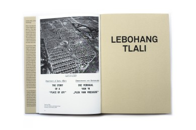 Title: Welkom Today. Revisiting South Africa Photographer(s): Ad van Denderen and Lebohang Tlali Designer(s): Jeremy Jansen Edit: Ad van Denderen, Anne Ruygt and Bas Vroege Writer(s): Margalith Kleijwegt Publisher: Kehrer, Heidelberg 2019 (Dutch edition by Paradox) Pages: 308  Language: English ISBN: 978-3-86828-926-8 Dimensions: 17 x 24 cm Edition/Print run: – Country: South Africa