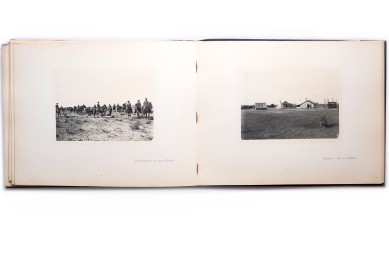 Title: Deutsch-Südwest-Afrika. Kriegs- und Friedensbilder. 100 Original-Aufnahmen von Friedrich Lange in Windhuk Photographer(s): Friedrich Lange Designer(s): – Writer(s): Friedrich Lange Publisher: Windhuk Verlag Franz Rohloff, Winhoek 1907 Pages: 100 photographic plates and text block with loose map Language: German ISBN: – Dimensions: 25 x 32 cm Edition: ? Country: Namibia