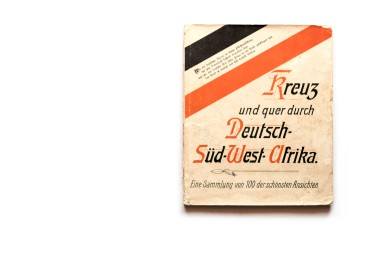 Title: Kreuz und quer durch Deutsch-Süd-West-Afrika Photographer(s): Collection of postcards, some of which can be attributed to Friedrich Lange Designer(s): Writer(s): Publisher: Kunstverlag Spenker, Hamburg, 1904 Pages: Unpaginated, though the book contains 100 reproduction of postal cards. Two card printed per page. Pages are printed on one side Language: German ISBN: Dimensions: 19 x 22,5 cm Edition: At least two editions exist. One hardcover and a softcover in a slipcase Country: Namibia