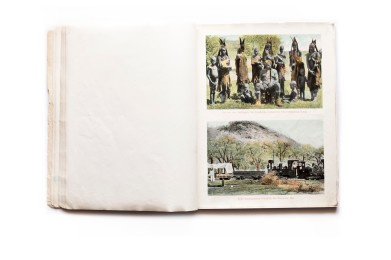 Title: Kreuz und quer durch Deutsch-Süd-West-Afrika Photographer(s): Collection of postcards, some of which can be attributed to Friedrich Lange Designer(s): Writer(s): Publisher: Kunstverlag Spenker, Hamburg, 1904 Pages: Unpaginated, though the book contains 100 reproduction of postal cards. Two card printed per page. Pages are printed on one side Language:German ISBN: Dimensions:19 x 22,5 cm Edition: At least two editions exist. One hardcover and a softcover in a slipcase Country:Namibia
