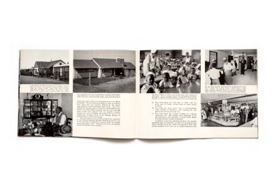 Title: In the Republic of South Africa...Each a roof of his own Photographer(s): Various photographers and agencies among which Ian Berry, Dorman Pretorius, Hilda Meiring and Peter Wrinch-Schulz Designer(s): Ernst de Jong (most probably) Writer(s): Publisher: Voortrekkers Pers Limited,South African Information Service, Johannesburg 1961 (?). Brochure seems to be intended for an American audience Pages: 48 Language: English ISBN: Dimensions: 25 x 18 cm Edition: Country: South Africa