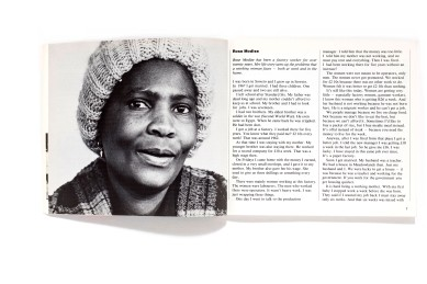 Title: Working women in South Africa Photographer(s): Lesley Lawson Designer(s): Mary Anne Bähr and Ray Carpenter Writer(s): Lesley Lawson Publisher: Pluto Press, London (1986) First published by Ravan Press and the Sacred Trust, South Africa 1985 Pages: 144 Language: English ISBN: 9780745302065 Dimensions: 21 x 18,5 cm Edition:  Country: South Africa