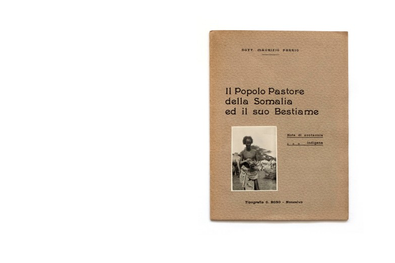 Title: Il popolo pastore delle Somalia ed il suo Bestiame Photographer(s): Dr. Maurizio Ferrio Designer(s): C. Bono - Monealvo Writer(s): Dr. Maurizio Ferrio Publisher: unknown, Italy 1927 Pages: 12 textpages and 8 pages with mounted photographs Language: Italian ISBN: – Dimensions: 17 x 24 cm Edition:   Country: Somalia
