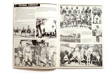 Title: Namibia in struggle. A pictorial history Photographer(s): Various photographers Designer(s): unknown Writer(s): unknown Publisher: International Defence & Aid Fund for Southern Africa, London 1987 Pages: 32 Language: English ISBN: 0904759768 Dimensions: 21 x 29,7 cm Edition:   Country: Namibia