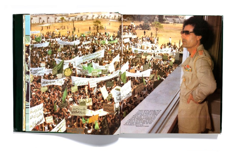 Title: Libya Jamahiriya Photographer(s): Anonymous Designer(s): - Writer(s): - Calligrahy: Ali Alani Ghani Publisher: Libyan Jamahiraya Popular and Socialist Cultural Affairs Department,Administrative Committee for Revolutionary Information, Tripoli 1981 Pages: 400 pages Language: English ISBN: 0-9584457-2-9 Dimensions: 31 x 26,5 cm Edition: Country: Libya