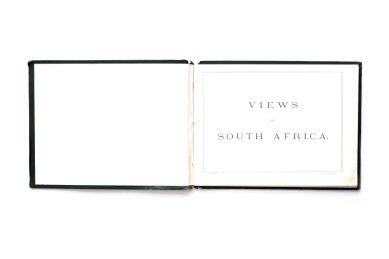 Title: Views of South Africa Photographer(s): George Washington Wilson & Co. Designer(s): Unknown Writer(s): - Publisher: Various publishers, Cape Town (?) 1930 Pages: 66 Language: English ISBN: – Edition: There are several editions of this book all with different contents. Some variations of the color of cover exist and also the book was published titled as Album of photographic views of South Africa. The book seems to have been published by different publishers. A version with a red cover exists. It was published by the Bloemfontein fine art dealer W. Lawrence. Dimensions: 25,5 x 19,5 cm Country: South Africa